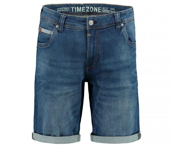 Timezone Herren Jeans Shorts mit Umschlag