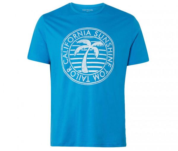 Tom Tailor Herren T-Shirt mit Sommer Print