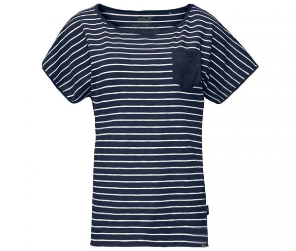 Jack Wolfskin Damen T-Shirt TRAVEL STRIPED