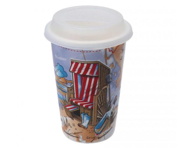 Tony Brown Coffee to go Becher maritim