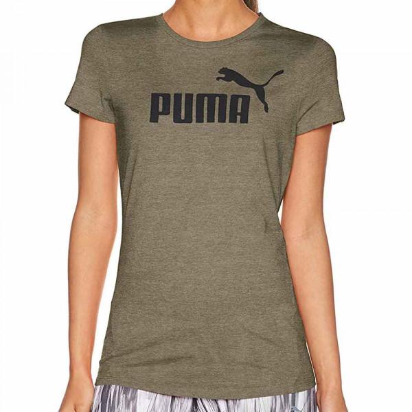Puma Damen T-Shirt ESS No. 1 Tee Heather W