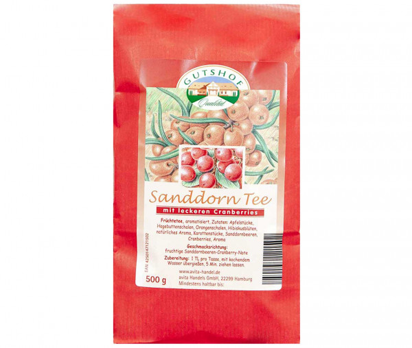Avita Sanddorn Tee mit leckeren Cranberries