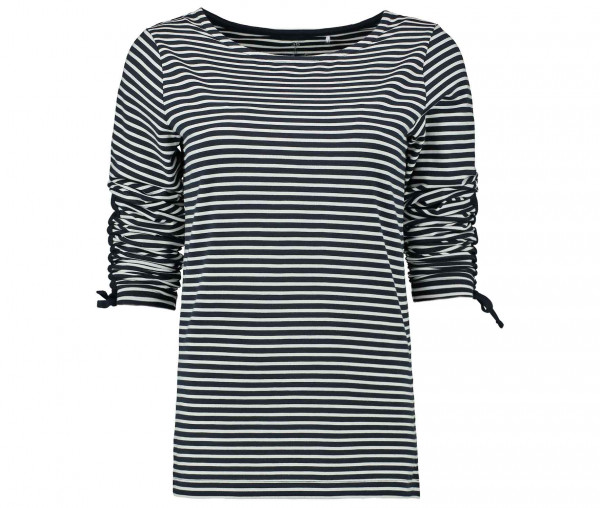 Julia Brown Damen Shirt mit Raffung