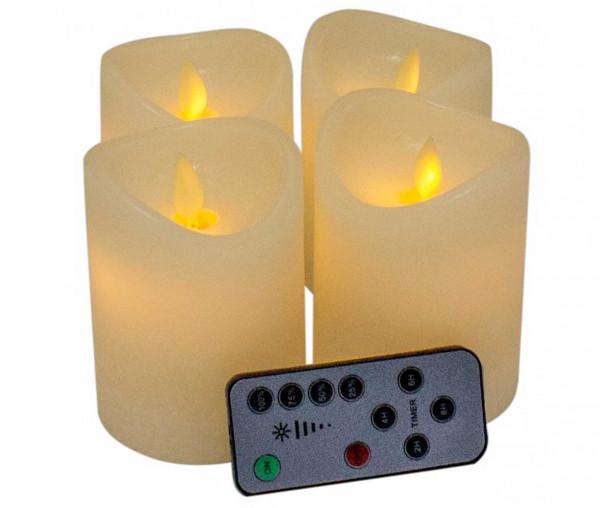 LED-Kerzen im 4er Set