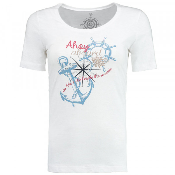 Tony Brown Damen T-Shirt Ahoi aboard