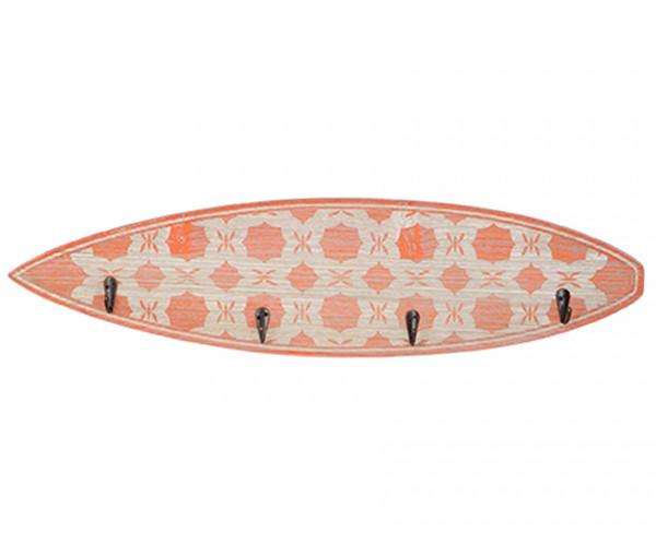 Surfboard mit 4 geschraubten Kleiderhaken