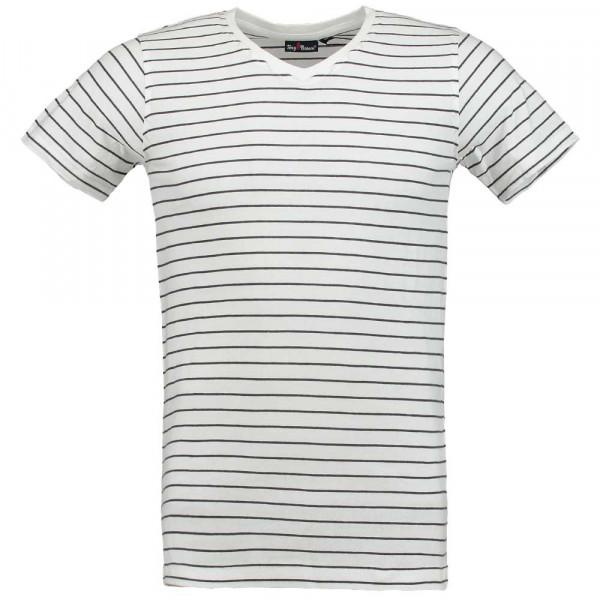 Tony Brown Herren T-Shirt V-Neck gestreift
