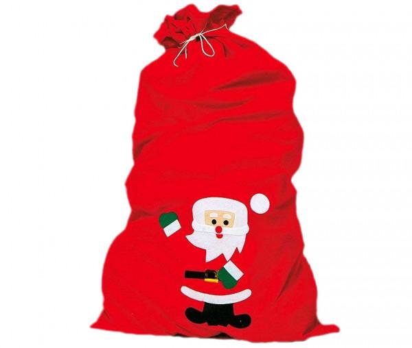 Idena Weihnachtsmann Filzsack mit Motiv