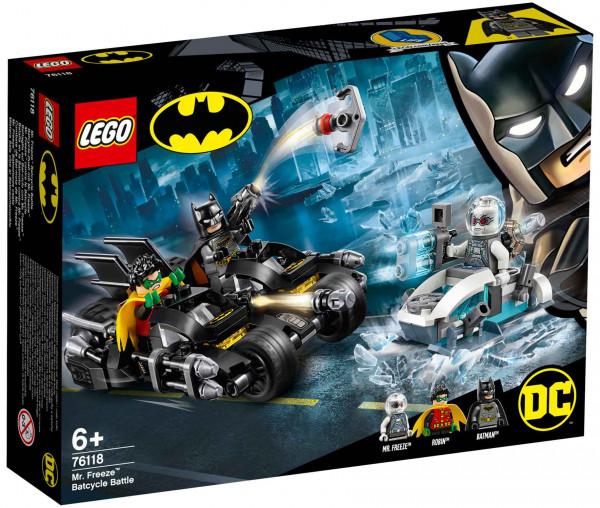 76118 LEGO® DC Comics Super Heroes Batcycle-Duell mit Mr. Freeze™