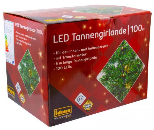 Idena Tannengirlande mit 100 LEDs